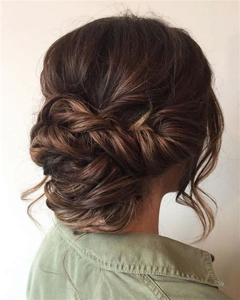 Wedding Hairstyles Low Updo beautiful braid updo wedding hairstyle for brides