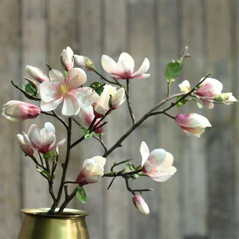 luxury artificial pink magnolia branch amaranthine