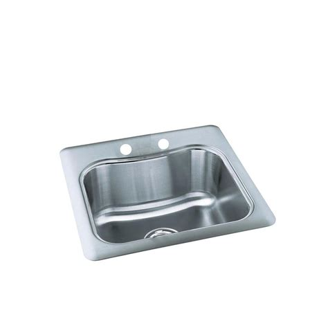 kohler staccato stainless steel kitchen sink kohler staccato self rimming stainless steel 20x20x8 3125