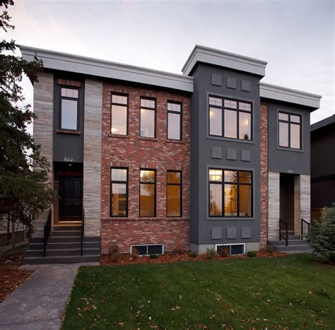 red brick house with grey siding good looking dark gray siding with red brick grey