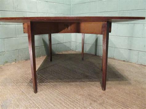 antique antique georgian oak drop leaf dining table seats