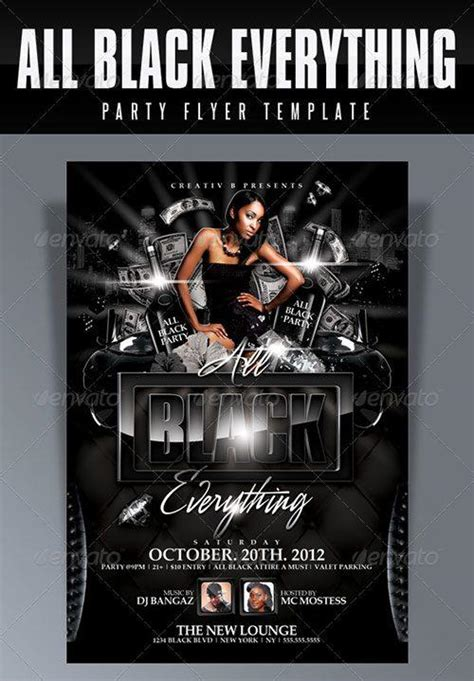 The Gallery For Gt Nightclub Flyers Backgrounds Black Flyer Template