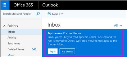 Office 365 Mail Focused Focused Inbox For Outlook Office Support
