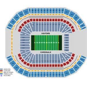 arizona cardinals seating map arizona cardinals vs chicago bears december 23 tickets