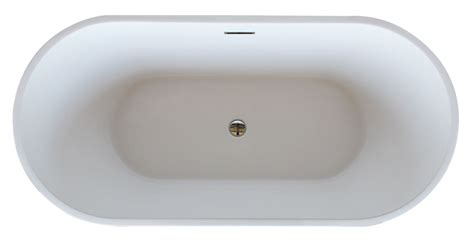 bathtub top view faucet com av6731bwsxcwxx in white by avano