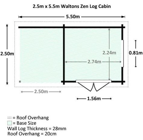 cabin dimensions 5 5 x 2 5 waltons zen 3 log cabin what shed