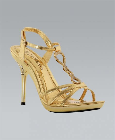 high heels gold krispwoman gold diamante strappy high heel shoes
