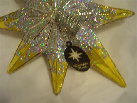christopher radko finial resplendence star tree topper stars