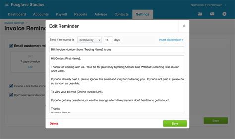 invoice reminders   secret weapon   paid  time xero blog