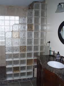 glass blocks bathroom walls glass block shower contemporary bathroom cleveland