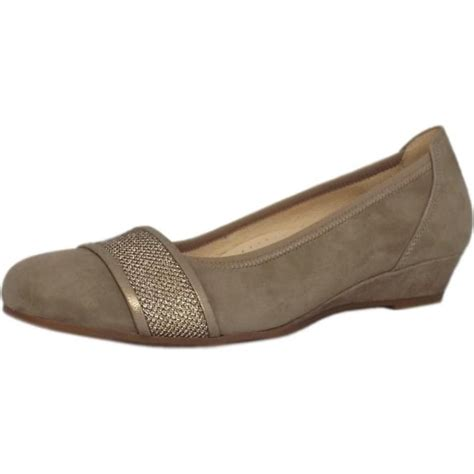gabor comfort range gabor helena smart low wedge pumps in taupe mozimo
