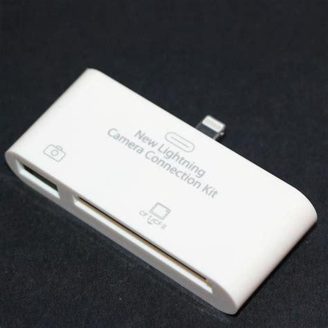 connection kit lightning usb otg connection kit cf card reader for