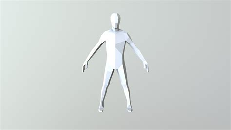 poly male base mesh    model