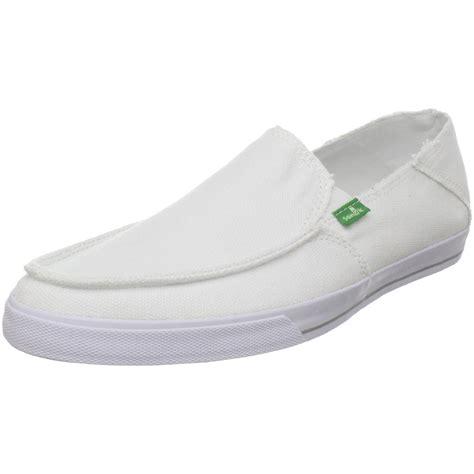sanuk mens slippers sanuk mens standard slip on in white for lyst