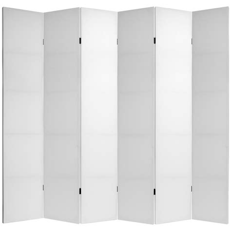 Oriental Furniture 7 Ft White Do It Yourself Canvas 6 7ft Room Divider