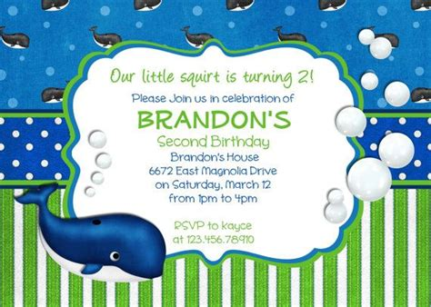 birthday invitations boy templates 32 best images about grace s 7th birthday whale theme on
