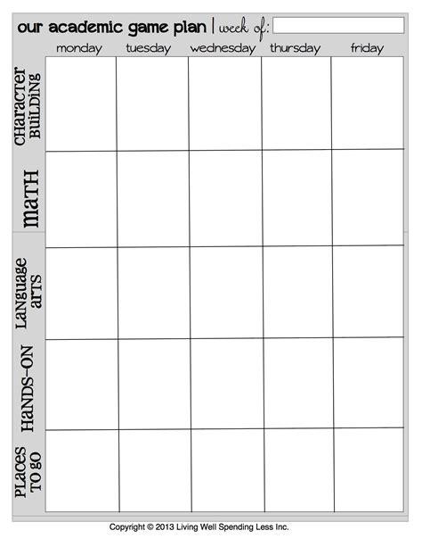 homeschool planner printables planner