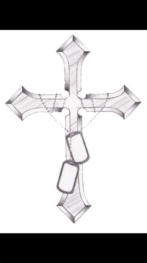 cross with dog tags tattoo best 20 tags ideas on