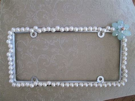 malibu boats license plate frame car accessory pearl beaded bling license plate frame