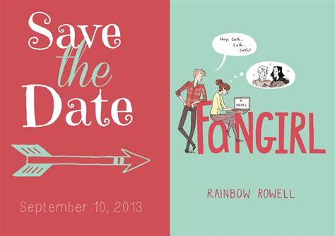 save the date a novel books fangirl by rainbow rowell