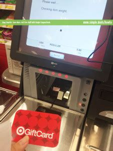 Gift Card Self Checkout - how to use self checkout at target simple coupon deals