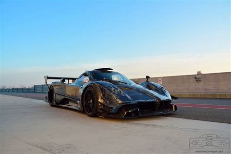 blue pagani zonda blue pagani zonda revolucion tests on track gtspirit