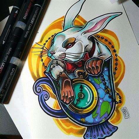 rabbit tattoo pen video 316 best images by tattoo artist created with chameleon