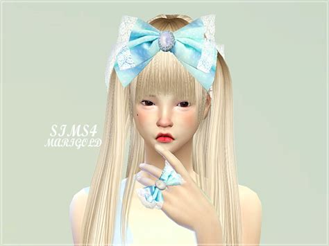 sims 3 custom content haie bow sims 4 big bow ring