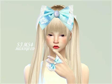 hair bow sims 4 custom content big bow ring at marigold 187 sims 4 updates
