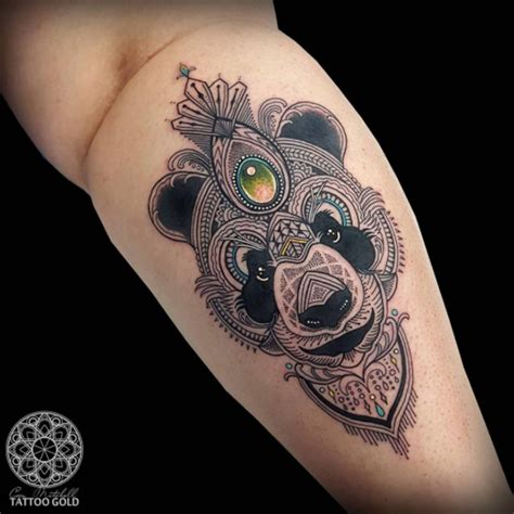 tattoo panda geometric 25 perfectly cute panda tattoos panda tattoos tattoo