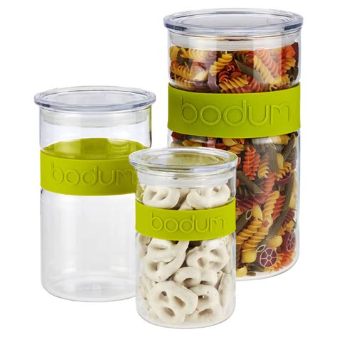 Green Presso green band presso glass canisters by bodum the container store