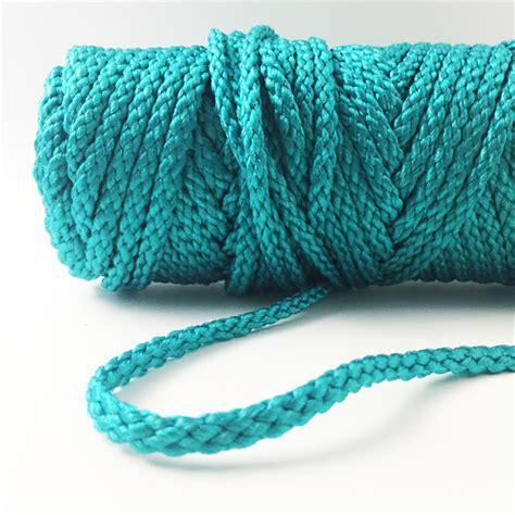 Macrame Craft Cord - bonnie braid 6mm 100yds turquoise macrame cord just add