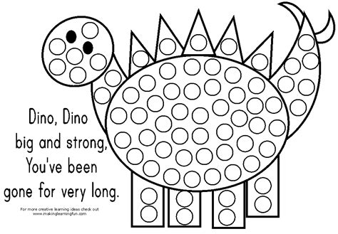 Dot Coloring Pages do a dot marker activity pages south shore mamas