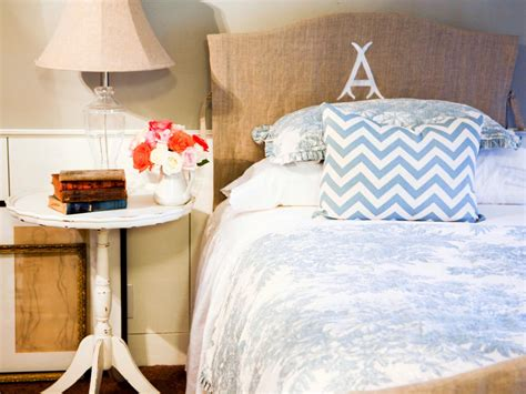 how to cover a headboard with fabric and buttons make an easy headboard slipcover hgtv