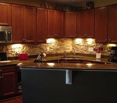 stacked stone backsplash a bold choice great home decor