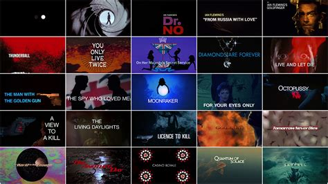 bond themes list james bond 50 years of main title design art of the title
