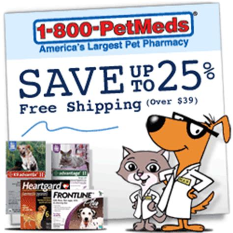 Pet Meds for Less: $4 Generic Drugs Discount Medications 1 800 Petmeds Coupons