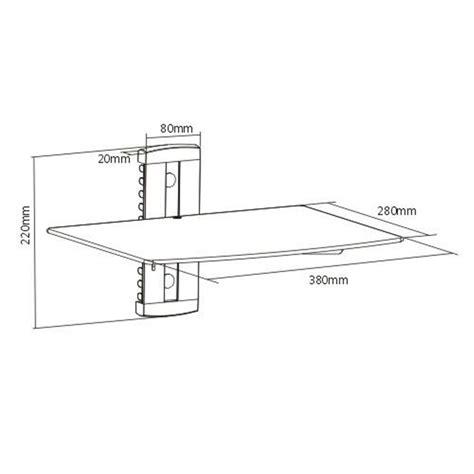montaggio mensole articoli per mensola di vetro montaggio a muro per dvd