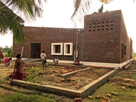 a contemporary brick house in india shelters orphaned