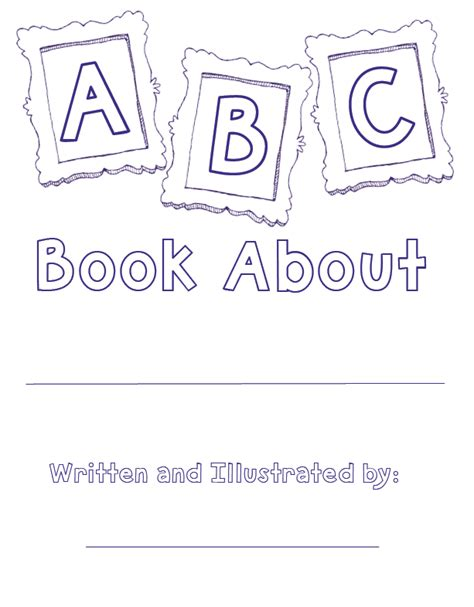 free printable alphabet book template coloring pages the lesson cloud alphabet book template