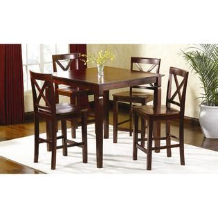 smith 5 pc mahogany high top dining set elegance