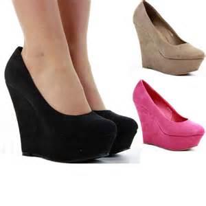 wedge sandals womens high heel platform black