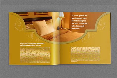 12 hotel brochure template psd indesign