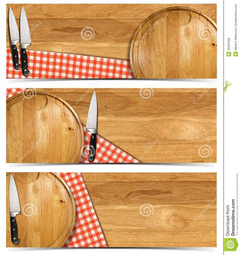 cooking board set of cooking banners royalty free stock photos image