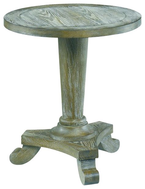 Driftwood Side Table Hammary 090 349 Treasures Driftwood Pedestal End Table Traditional Side Tables