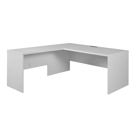 no tools assembly desk niche mōd 61 quot l desk shell with no tools assembly white