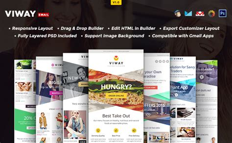 layout para email 10 foremost multipurpose responsive email templates