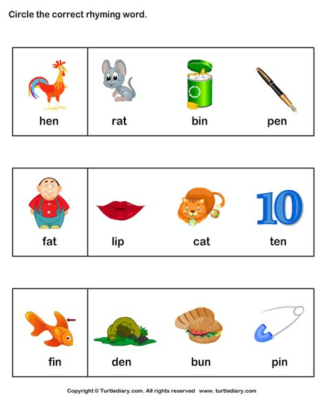 words that rhyme with find words that rhyme worksheet turtle diary