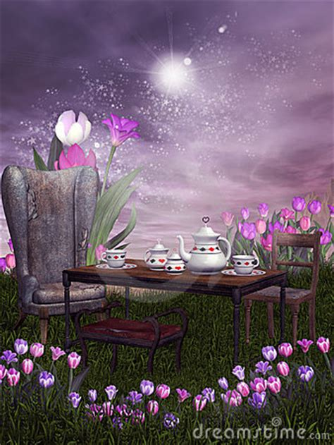 fantasy tea party stock images image