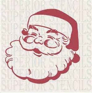 vintage santa stencil large 11 5x11 5 christmas